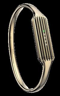 Accesoriu bratara metalica fitness Fitbit Flex 2 marimea L aurie