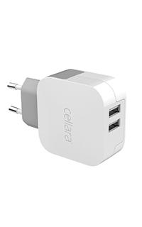 Accesoriu incarcator retea Cellara dual USB 1A/2.4A