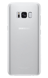 Accesoriu protectie spate Samsung pentru Samsung S8 plus transparent argintiu