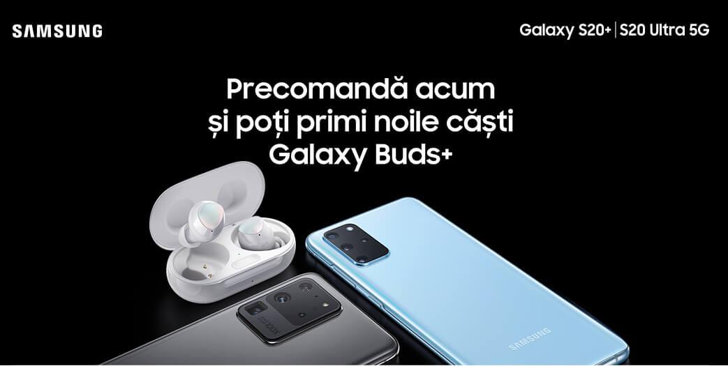 Precomanda acum si poti primi noile casti Galaxy Buds+