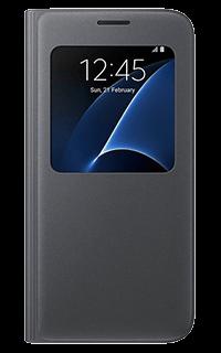 Accesoriu protectie tip carte S-View Samsung pentru S7 negru