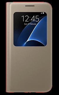 Accesoriu protectie tip carte S-View Samsung pentru S7 auriu
