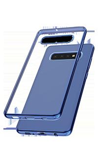 Accesoriu protectie spate Cellara cole Electro pentru Samsung S10 Plus albastru