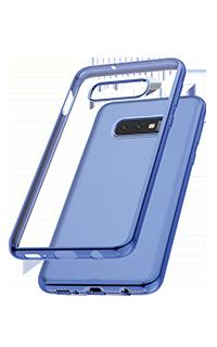 Accesoriu protectie spate Cellara cole Electro pentru Samsung S10E albastru