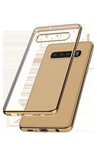 Accesoriu protectie spate Cellara colectia Electro pentru Samsung S10 auriu
