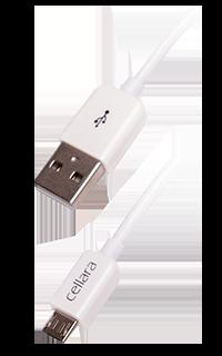Accesoriu cablu de date cellara microusb alb