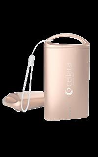Accesoriu baterie externa Cellara capacitate 7500 mAh aurie