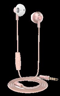 Accesoriu casti audio Cellara cu fir colectia Deeper roz aurii