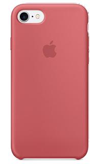 Accesoriu protectie spate Apple din silicon pentru iPhone 7 roz inchis