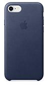 Protecție spate din piele iPhone 7/8 albastru