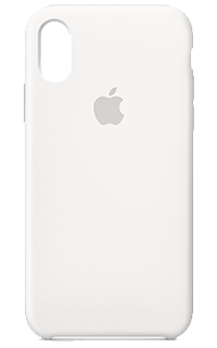 Accesoriu protectie spate Apple din silicon pentru iPhone X alb