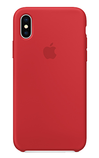 Accesoriu protectie spate Apple din silicon pentru iPhone X rosu