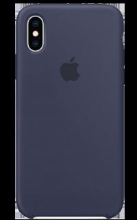 Accesoriu protectie spate Apple din silicon pentru iPhone XS albastru