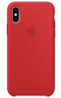Accesoriu protectie spate Apple din silicon pentru iPhone XS rosu