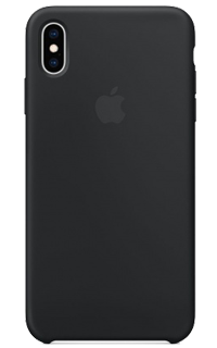 Accesoriu protectie spate Apple din silicon pentru iPhone XS Max negru