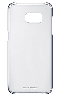 Accesoriu carcasa spate transparenta Samsung pentru S7 Edge negru