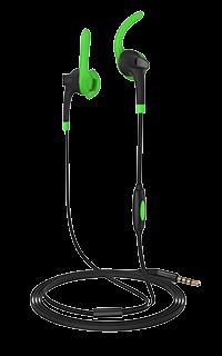 Accesoriu casti audio sport Cellara cu fir colectia Energy verzi