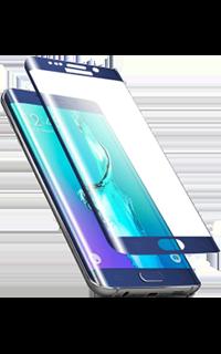 Accesoriu folie ecran 3D din sticla Cellara pentru Galaxy S6 Edge albastru