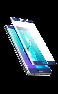 Accesoriu folie ecran 3D sticla Cellara pentru Galaxy S6 EdgePlus albastru