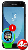Pachet Samsung Galaxy J3 2017 + Ceas copii MyKI Touch Albastru