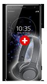 Pachet Telefon Sony Xperia XZ2 Negru 4G cu Casti Sony Hear On Mini Negru